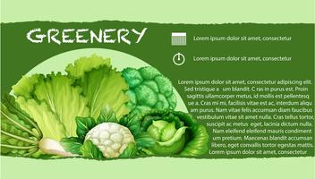 Green vegetables with text vector