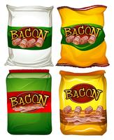 Four bags of bacon