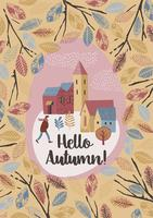 Autumn design. Vector temlate.