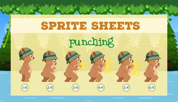 En sprite sheet punching spelmall