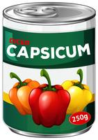 Can of diced capsicum