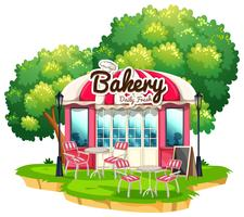 Bakery shop with dining tables