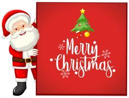 Cartão de Papai Noel feliz Natal