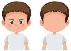 Set di caratteri ragazzo brunetta
