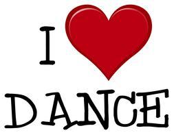 Eu amo fonte de dança