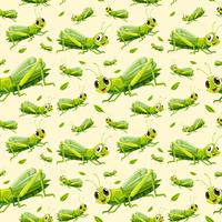 Green grasshopper seamless background