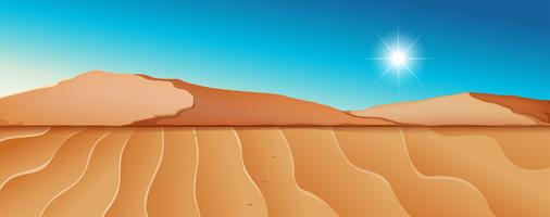 Escena del paisaje del desierto seco