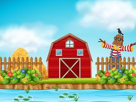 Red barn farm scence