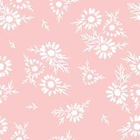 Abstract bloemen naadloos patroon met kamille. Trendy hand getrokken texturen