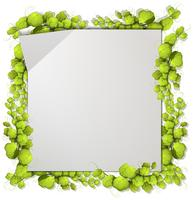 Ein grüner Naturblattrahmen