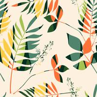 Abstract seamless pattern with leaves. Vector background for various surface.