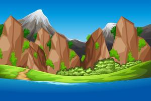 A beautiful nature background vector