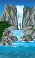 Schöne Wasserfalllandschaftsszene