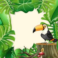 Large toucan forest frame vector
