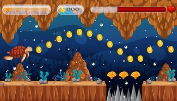 Um mundo subaquático do molde do jogo