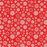 Vector winter seamless pattern with snowflakes.