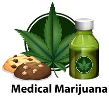 Un vector de producto de marihuana.