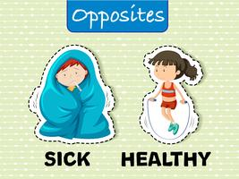 Sick and Healthy Opposite Words