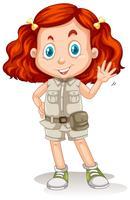 Das Mädchen mit dem roten Haar in Safari Suit