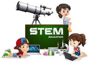 Girls and stem education on board