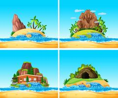 O conjunto da ilha de verão