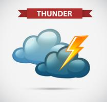 Weather icon for thunder