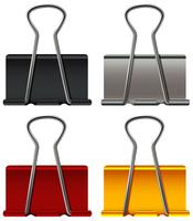 Paper clip in four colors