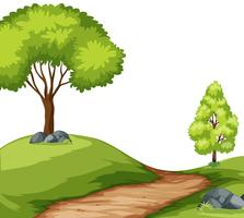 Road in forest landscape vector