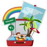 Summer holiday on the suitcase