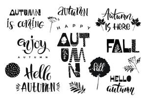 Autumn. Vector lettering design.