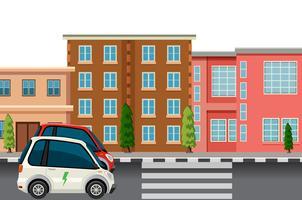 Elektroauto in der Stadt