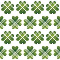 Saint Patrick's Day tartan seamless pattern vector