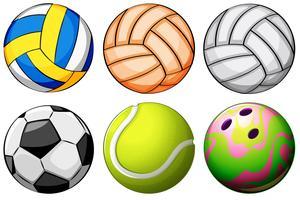 Set von Sportbällen