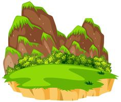 Isolated natural island background