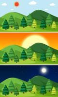 En uppsättning naturlandskap