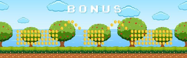 Bonusspiel-Schablonengartenthema