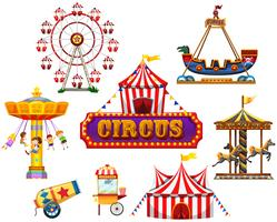 A Circus and Festival Element vector