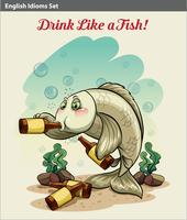 Drinking like a fish idiom