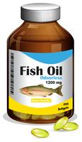 A Bottle of Fish Oil Softgels vector