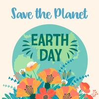 Earth Day. Vector template for card, poster, banner, flyer.