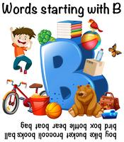 Worksheet design for words starting with B