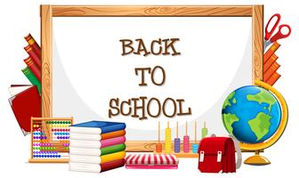 Whiteboard and back to school  vector
