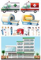 Elementos hospitalarios y médicos.