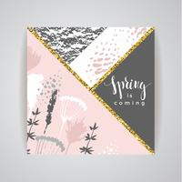 Artistic creative Hand Drawn design de primavera