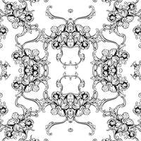 Seamless vektor bakgrund. Barockmönster.