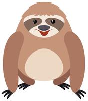 Cute sloth with happy face