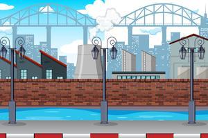 Una escena de fábrica urbana.