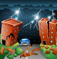 Cena de tempestade cidade scape