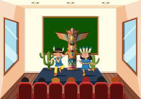 Bambini in classe di ballo