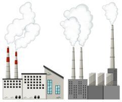 Fabrieksgebouwen met hoge schoorstenen